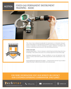 Fixed Gas Permanent Instruments Training (Basic) - August 4, 2021